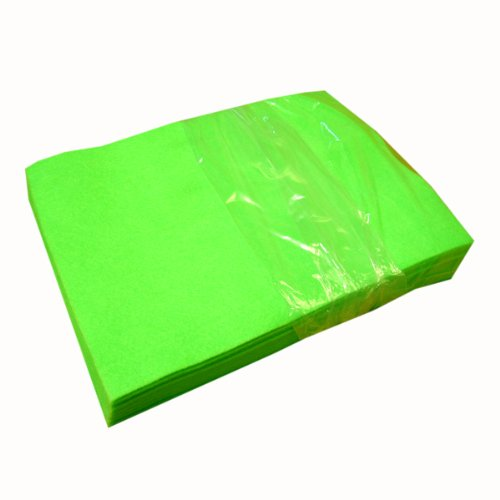 - Acrylic Craft Felt Packages (25pcs/pack), Neon Lime