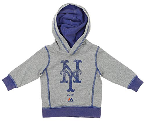 Outerstuff MLB Infant's (12M-24M) New York Mets City Heritage Lightweight Hoodie, Grey 18 Months ()