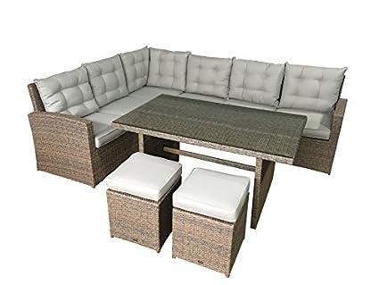 Jet-Line de 2745- Set de muebles de jardin La Palma, color crudo ...