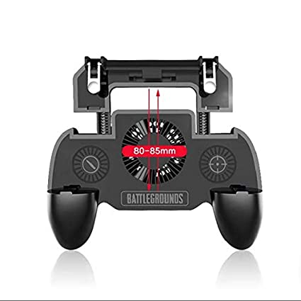 feefine mobile controller with portable charger cooling fan for pubg fortnite game controller l1r1 mobile trigger joystick 4 6 5 android ios phone 4000ah - fortnite charger