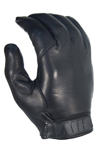 ACK, LLC HWI Gear Kevlar Lined Leather Duty Glove, Medium, Black