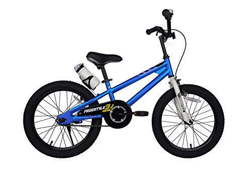Royalbaby Freestyle Kid's Bike, 18 inch with Kickstand, Blue, Gift for Boys and Girls