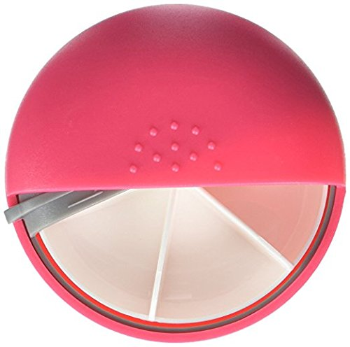 PuTwo M-square Round Portable Pill Box Mediplanner AM PM Organizers - Pink by PuTwo