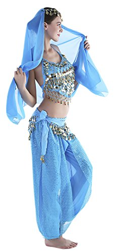 14274e3d2621 Seawhisper 12 Colors Belly Dance Costumes India Dance Outfit Halloween  Carnival