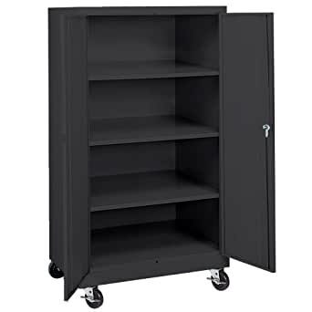 amazon storage cabinets sandusky ta3r362460 09 black steel 10556