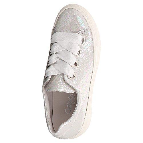 Bianco Grau stringate Scarpe bianco donna Gabor tUwzqTq
