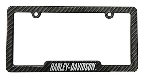 Harley-Davidson Carbon Fiber Look H-D Metal License Plate Frame - Metal License Plate Davidson Harley