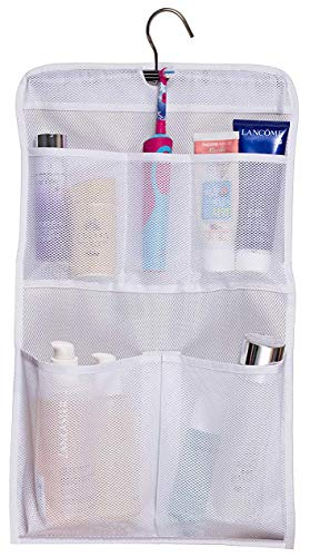 MISSLO Shower Caddy Organizer 5 Pockets Roll up Hanging Bathroom Accessories Storage for Camper, RV, Gym, Cruise, Cabin, College Dorm Shower, Small