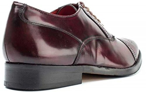 Base London Noel Hi Lustro In Pelle Bordo Da Uomo Brogue Scarpe