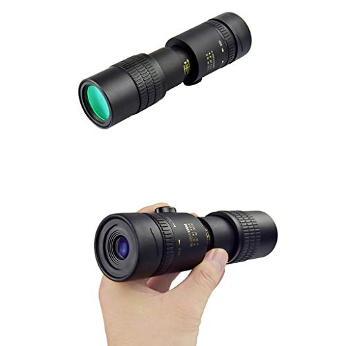 4K 10-300X40mm Super Telephoto Zoom Monocular Telescope with Tripod for Smartphone Portable Astronomy Beginners Waterproof Fogproof HD Night Vision Easy Focus for Travelling Camping (A)