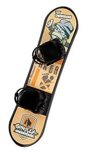 Snowboard Snowboard - Tabla de snowboard infantil, color negro