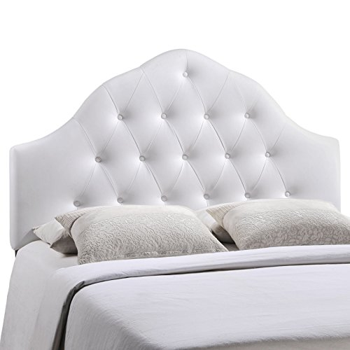Modway Sovereign Upholstered Tufted Button Vinyl Headboard Queen Size In (Vinyl Upholstered Bed)
