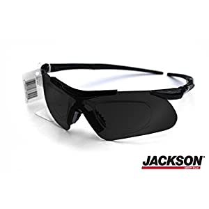 Jackson Safety Glasses V60 Safeview Smoke Tinted & Anti-Fog with RX Insert (38505) 1 Pair