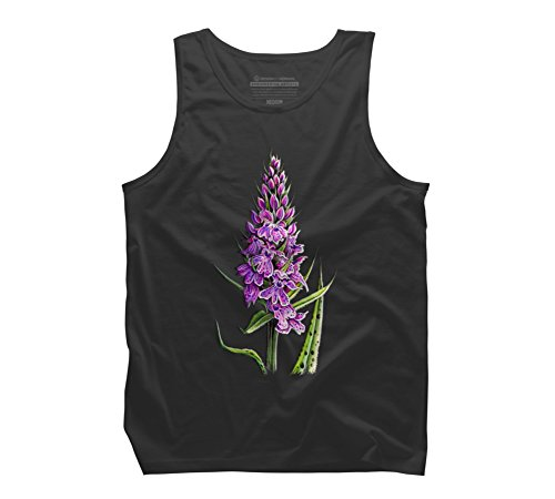 Common Spotted Orchid Men's X-Large Charcoal Graphic Tank ()