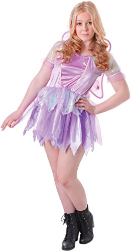 Fairytale Halloween Fancy Club Party Fantasy Fairy With Purple Wings Costume -
