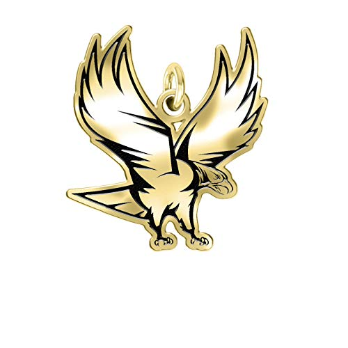North Carolina Central Eagles 14k Yellow Gold Cut Out Logo College Charm (1/2