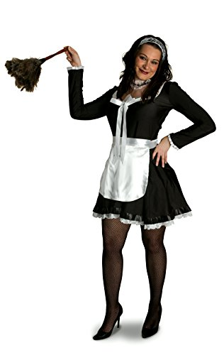 - Sunnywood Women's Plus Size Lava Diva Chambermaid Costume, Black/White, X-Large