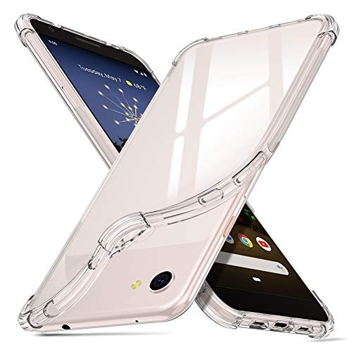 ORNARTO Case for Pixel 3a, [Air Cushion] Crystal Clear Slim Protective Cover with 4 Reinforced Corners Bumper Flexible Transparent TPU for Google Pixel 3a(2019) 5.6