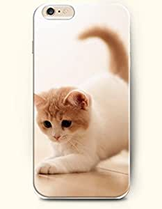 OOFIT Apple iPhone 6 Case 4.7 Inches - Cat Walking on the Wood Floor