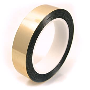 """CS Hyde Gold Metalized Polyester with Acrylic Adhesive .0022"""" Thick"""