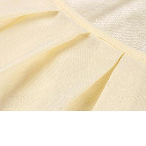 Donna Maniche Senza Lunghe Canotta Spalline Senza Maniche da da in Top Shirt Donna Canotta T Camicie da Giallo Romantico Donna Donna Chiffon Longra Senza Stampato Camicetta g7Bxvpwxq
