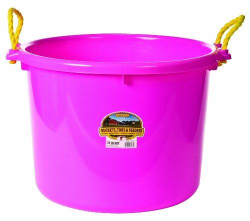 Little Giant Muck Tub, 70-Quart, Hot Pink