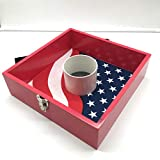SPORT BEATS Washer Toss Game Premium Wood washers Game Yard Game-3 Options to Choose from! (Flag Design)