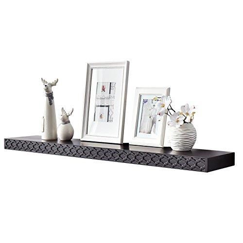 e Size Wall Shelves,Floating Shelves Photo Ledges Wall Shelf (Carving Pattern 48 INCH, Espresso) ()