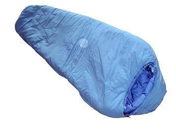 LESTRA Field Pack Junior - Saco de dormir infantil (180 x 75 cm, apertura izquierda), color gris y azul: Amazon.es: Deportes y aire libre