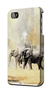 S1379 Pair Elephant Case Cover For IPHONE 4 4S