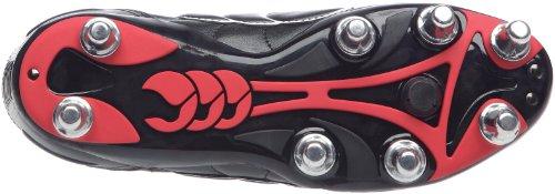 Canterbury - Zapatillas de rugby unisex Negro (Schwarz/Rot/Weiß)