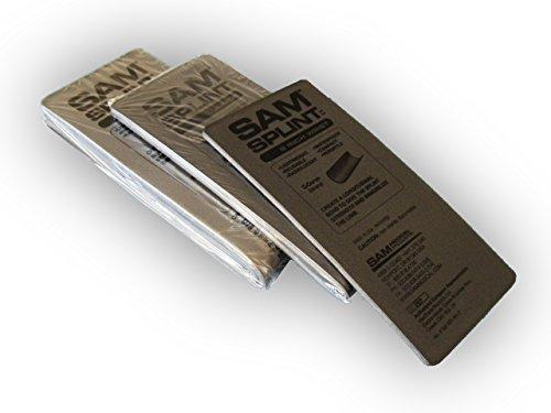 (SAM Splint 3X Combo Pack Gray Flat by Rescue Essentials)
