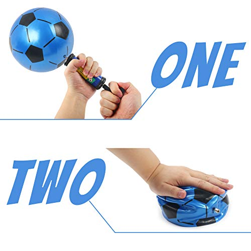 Mini Soccer Ball, 6PCS Foosball Balls Colorful Kids Mini Toy Soccer for Toddlers, 7.5inch Inflatable Soccer Rubber Soccer for Kids, with Pump