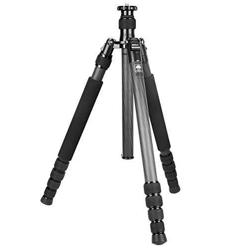 Sirui N-1204X 4-Section Carbon Fiber Tripod with Integrated Monopod, Holds 27 Lbs, Extends to 52'' by Sirui