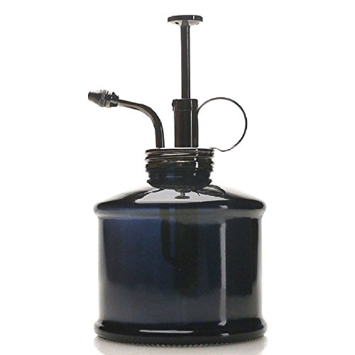 Purism Style Plant Mister- Black Color Glass Bottle & Brass Sprayer (Gun Metal) by Purism Style