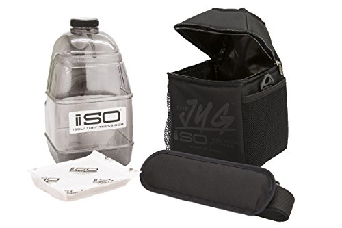 Jugs Combo (Isolator Fitness ISOJUG COMBO Insulated One Gallon Water Jug Holder AND One Gallon BPA Free Gallon Jug with ISOBRICK and Shoulder Strap -MADE IN USA (Blackout))