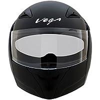 Vega Boolean BLN-DK-L Flip-Up Helmet with Double Visor (Dull Black, L)