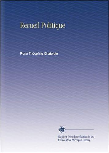Livre Recueil Politique pdf, epub ebook
