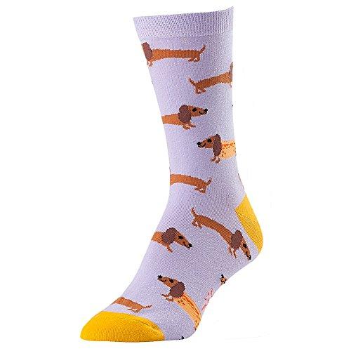 Wiener Dogs In Costumes (Sock It To Me Hot Dogs Womens Crew Socks women's shoe sizes 5-10)