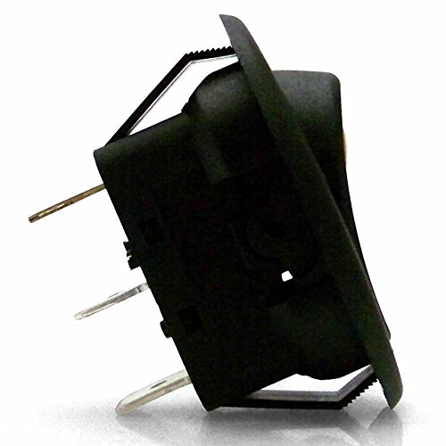 Keep It Clean 125544 Red 20 Amp/12V Oval LED Rocker Switch