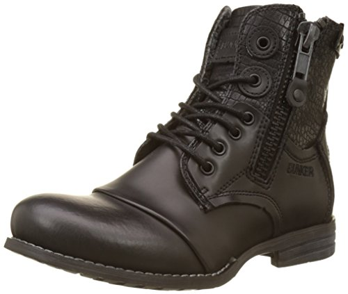 Bunker Damen Zip Biker Boots Noir (nero)