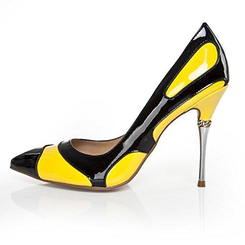 Minitoo - Sandalias con cuña mujer Amarillo - amarillo