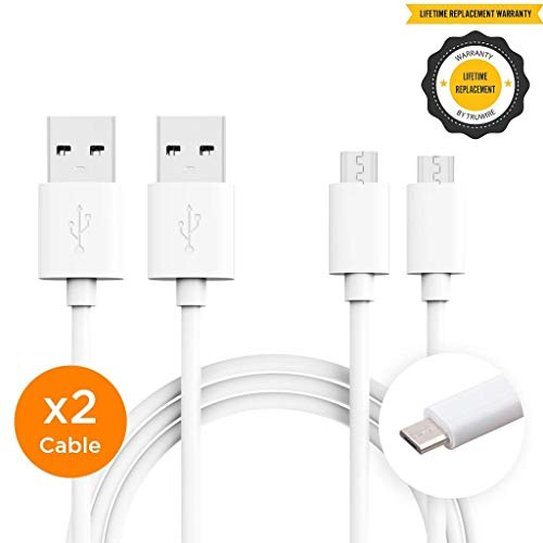 Galaxy J7 Charger Micro USB 2.0 Cables Micro USB Data Sync Charging Cable, Fast Charging Charger Cord by Truwire Compatible with Samsung Products - {2 Cable}