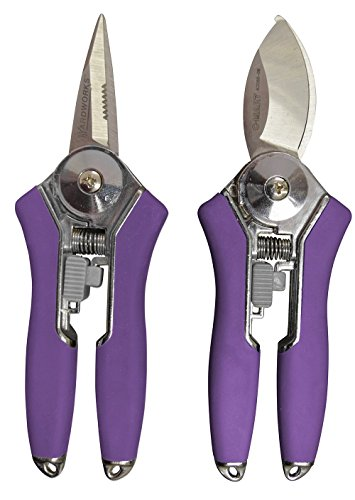 Radius Garden 2-Piece Pruning Tool Set - Includes Floral Shear and Mini Bypass Pruner, Purple by Radius Garden
