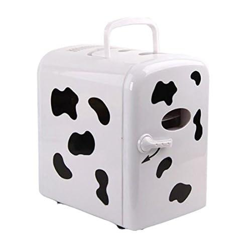 4L vache Mini réfrigérateur, 12V/220V réchauffeur refroidisseur pour voiture maison, pour le stockage de boisson alimentaire du sein lait cosmétique l'insuline free shipping