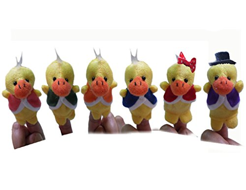RIY 6Pcs Story Time Finger Puppets - Six Little Ducks Educational (Mickey Mouse Halloween Theme Song)