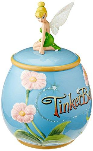 Westland Giftware Ceramic Cookie Jar, Tinker Bell Flowers, (Bell Jar Collection)