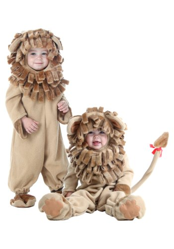 Fun Costumes Little Boy Deluxe Toddler Lion Jumpsuit Costume 4T Brown]()
