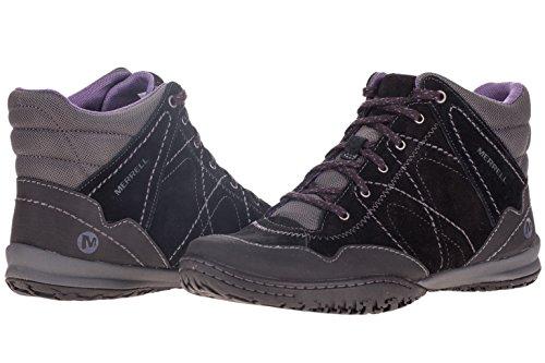 Merrell Albany Cuff Damen Schuhe Damenschuhe Leder Herbst Winter, Black, Gr. 36