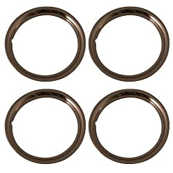 Set Of 4 Stainless Steel 16 Inch Beauty Trim Rings With Metal Clip Retention System - Part Number: Iwc1516s